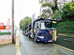 P1090437 (smith.rodney74) Tags: ay59dyc bppetrol flagsflying wetpavement sale spar roadmarkings trees greene ry