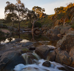 Reedy Creek (Trace Connolly) Tags: australia australian australiasouthaustralia canon canon7d cloudsstormssunsetssunrises dusk environmentalphotography exposure environment flickr gold golden hiking landscape longexposure light movement nature naturephotography native orange rocks river red reflections rivergums rivers reedycreek sigma southaustralia sunset timeexposure trees water waterfalls sigma1750f28exdcoshsm sigma1750mm yellow rapids photographer digital sky tree sun