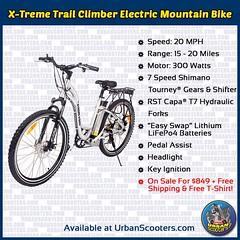 X-Treme Trail Climber Electric Mountain Bike (urbanscooters) Tags: xtreme trailclimber mountainbike electricbike mountainbikes electricbikes bike ebike bikes ebikes rst shimano pedalassist