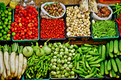 Vegetables (Ormastudios) Tags: vegetables tomatoes lemon cucumber mushroom brinjal