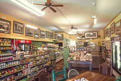 TAYLORSVILLE GROCERY (akahawkeyefan) Tags: product grocery store taylorsville davemeyer table chairs goods