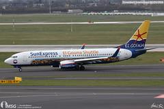 D-ASXP (dabianco87) Tags: aeroplano aircraft aerei plane dusseldorf dus boeing b737800 sunexpressgermany elgounashuttle dasxp