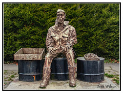 The easy listener (D.K.o.w) Tags: countyarmagh derrytrasna dungannon lurgan statue warmemorial memorial armagh loughneagh northernireland stilllife canon7dmkii bronzestatue granite towncentre midulster ulster
