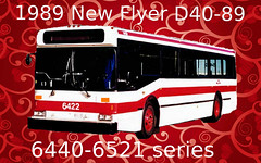 TTC 1989 New Flyer D40-89 #6452 (Crescent Transit 54) Tags: ttc toronto transit commission 1989 new flyer industries d4089 6452 retired june 2007 64406521 series 20 years service queensway division