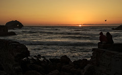 Romantic sunset (Patty Bauchman) Tags: sanfrancisco california oceanbeachca thecliffhouse sunset heart ocean pacificocean nature landscape sutrobaths