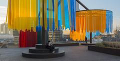 Feestversiering bij Utrecht Centraal (Tim Boric) Tags: utrecht centraal station jaarbeursplein looproute overstap transfer kleuren colours