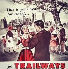 1950s Trailways Ad (Christian Montone) Tags: ads advertising vintageads adverts vintage print printads 1950s midcentury
