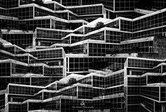 Image Illusion - Composition IV (Dez Karpati Photography) Tags: dezkarpati photo photography photoart foto fineart bw blackandwhite monochrome abstract modern dark dramatic famous architecture building city collage fortlauderdale florida fl