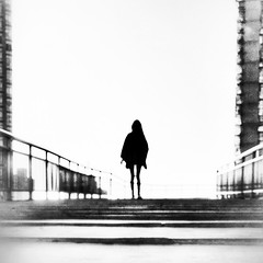 Dreams of a sleepwalker ~ Shanghai (~mimo~) Tags: streetphotography street china shanghai blur woman blackandwhite mobile shotoniphone7 iphone7 iphone
