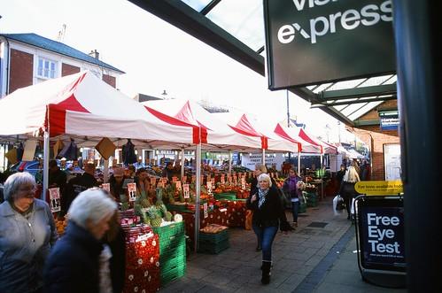 Berkhamstead Market in Velvia