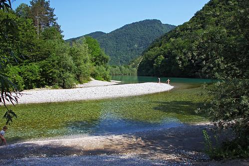 Tolminka-Soca confluence