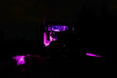 Workin' in the dark (jr-transport) Tags: kenworth w900 w9l w900l custom seminole led logging forestry offroad