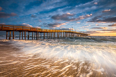 North Carolina Outer Banks Nags Head Pier at Sunrise (Dave Allen Photography) Tags: northcarolina outerbanks obx nc pier sunrise beach nagshead ocean seascape surf atlantic coast eastcoast outdoorphotographer landscape longexposure waves morning goldenhour capehatteras nature coastal