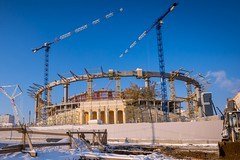 Yekaterinburg Arena - November 3, 2016 (oriehnid) Tags: строительство кабели рабочие колодец канализация связь ростелеком жкх уборка снега екатеринбург russia