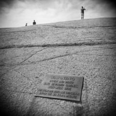 Peggy's Cove #5 (LowerDarnley) Tags: holga novascotia peggyscove sightseers tourists warning sign ocean dangerous waves maritimes atlanticcanada rocks