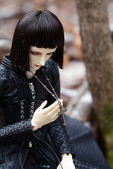004 (Kumaguro) Tags: bjd dollshe husky dollshehusky dollsheoldhusky autumn earlywinter forest cross dark gothic