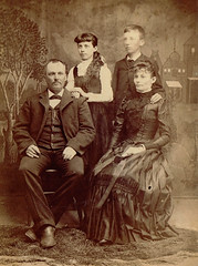 Unknown Family (The Lone Wadi Archives) Tags: cabinetcard family portrait lostphoto foundphoto mysterious unknown retro 1890s 19thcentury victorian