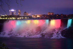 color falls (kaimonster) Tags: night niagarafalls waterfall longexposure canada ontario vacation winter nature lights