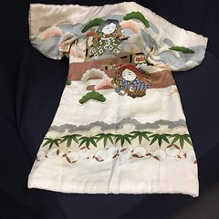 CHILDREN'S:  Hand painted, padded, child's kimono.
