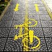 Wet bicycle path..