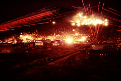 Long Exposure Photos of Gunfire at Night near Phu Tai, Vietnam, 1970 - Photo by James Speed Hensinger (manhhai) Tags: vietcong vc tracers tracer harrasementinterdiction harrassmentandinterdiction hi machinegun weapon gunfire gun phutaiquinnhonquinhonqu vietnamrvnvietnamrepublicofvietnam phutaiquinnhonquinhonquynhon
