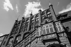 Lübeck - City Hall (superbart77) Tags: architecture blackandwhite breitestrase city clouds lübeck rathaus townhall cityhall historiccitycenter oldtown