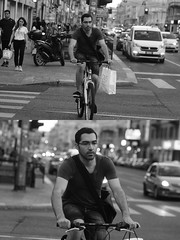 [La Mia Città][Pedala] (Urca) Tags: milano italia 2016 bicicletta pedalare ciclista ritrattostradale portrait dittico bike bicycle nikondigitale biancoenero blackandwhite bn bw 907141