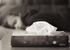 Gripe. 173/365. (anajvan) Tags: niño dormir gripe byn