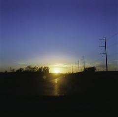 Sunset (corymarrphotography.com) Tags: sunset colors mediumformat roadtrip hasselblad traveling sunsetting 80mm colorfilm portra160