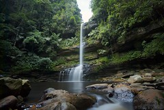 Takob Akob Falls (David KWC) Tags: nature water forest river landscape flow waterfall rainforest rocks wideangle malaysia borneo remote ultrawide sabah sigma1020mm maliau nd1000 nikond80 takobakob maliaubasin