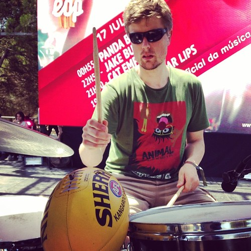 Will at soundcheck at Super Bock Super Rock festival in Portugal. #tcedoeuro #andietheroadie