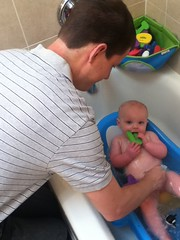 "A Bath from Daddy • <a style=""font-size:0.8em;"" href=""http://www.flickr.com/photos/109120354@N07/14592201489/"" target=""_blank"">View on Flickr</a>"