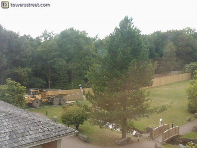 08/08/14 - Work continues round the back of the Alton Towers Hotel.
