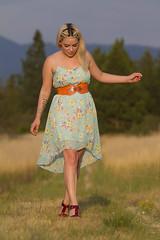 Shantell (austinspace) Tags: park sunset summer portrait woman grass washington spokane dusk bikini blond blonde grasses pinup magichour mirabeau