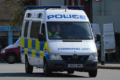 SK02 NRU (S11 AUN) Tags: public mercedes scotland support order pov police vehicle incident command carrier borders lothian psu unit icu sprinter sk02nru