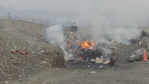 Open-Air Burn Pit at Shindand Airbase