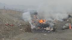 Open-Air Burn Pit at Shindand Airbase