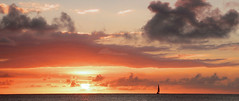 Far Away (TablinumCarlson) Tags: ocean africa leica sunset 2 sky cloud sun girl silhouette backlight clouds de island boot boat photo sailing ship sonnenuntergang maurice indian himmel wolken rivière afrika mauritius sonne république schiff segelschiff dlux gegenlicht noire ozean indischer