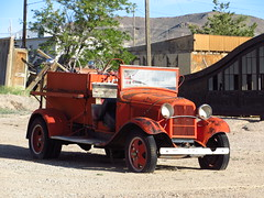 Fire Truck (spork_spelunking) Tags: old city red history car station fire desert nevada rusty roadtrip firetruck ghosttown civilization yesterday past goldfield