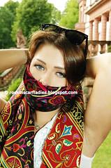 NEW Rockinscarflady - to gag or not to gag? (rockinscarfladies) Tags: scarf naughty silk gag foulard versace scarfplay seidentuchknebel