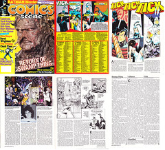 The Tick Comics Scene Magazine No. 7 (1987 2nd Series) (vsndesigns) Tags: boy stone kids club magazine toys book wooden comic eli with little bell ben box zombie steel tie tshirt spoon 45 taco commercial 80s fox meal indie and merchandise tick shocker limited edition promotional rare 90s collector totally the edlund in scens a gbjr