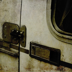 Enter . . . . . . . . . . at Your Own Risk (jumpinjimmyjava) Tags: camping neglect decay trailer boler