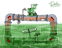 TFP water recycle cartoon (DSL art and photos) Tags: water lakeerie greatlakes toledo sewage pollution editorialcartoon runoff drinkingwater algalbloom watersystems donlee toledofreepress toledowater microsystin