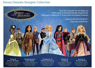 Disney Fairytale Designer Collection - US Disney Store Product Banner - Upcoming Releases - 2014-08-25