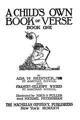 Child's Own Book of Verse title page (katinthecupboard) Tags: artnouveau poems maudandmiskapetersham vintagechildrensillustrations vintagechildrenspoetry