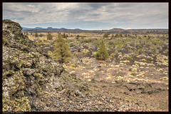 Painted Landscape (ScottElliottSmithson) Tags: california panorama nature northerncalifornia rock canon landscape eos volcano desert rocky dry crater 7d vista geology nationalparks volcanic nationalmonument sagebrush lavabeds lavabedsnationalmonument usnationalparks eos7d usnationalmonuments dtwpuck scottsmithson scottelliottsmithson blackscrater