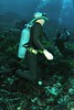 Vintagte scuba diver. (Vintage Scuba) Tags: two 3 man black men ice window wet water yellow fetish vintage silver one us belt divers aqua snorkel mask under scuba diving rubber suit mans mens diver piece jacques weight striped drysuit fins wetsuit bcd breathing lung aparatus neoprene fenzy