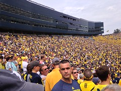 Big House University of Michigan Football Game Crowd