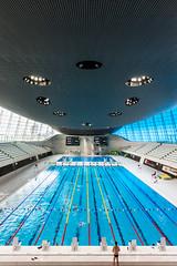 Some flood (bazkeogh) Tags: england london architecture swimming nikon olympic aquatic olympicpark zahahadid 2470 aquaticcentre d700 bazkeogh