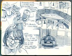 pizzeria locale (paul heaston) Tags: brazil art notebook artwork drawing journal sketchbook urbansketching